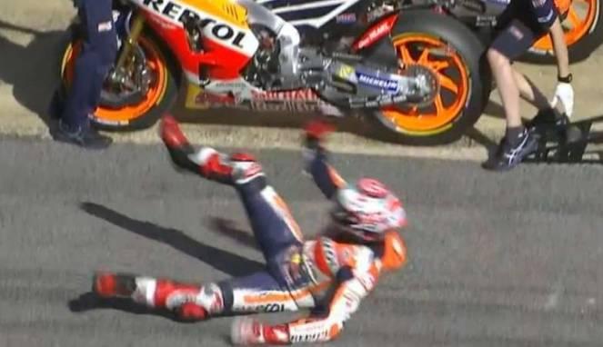 Marquez Crash Free Practice- Ist
