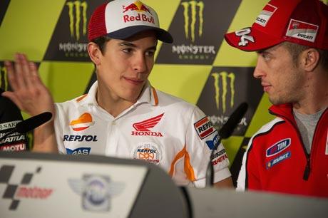 Andrea+Dovizioso+Marc+Marquez