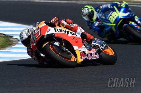 Marc Maquez Pole at Australia MotoGP Qualification - Crash