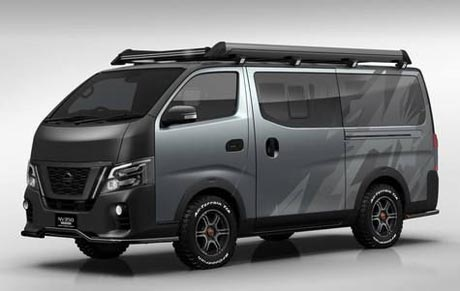 Ajang Tokyo Auto Salon, Nissan Pamer NV350 Caravan GT Gempur Toyota Hiace