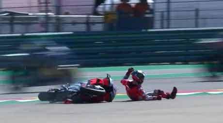 Ini yang Dialami Jorge Lorenzo Setelah Crash di MotoGP Aragon